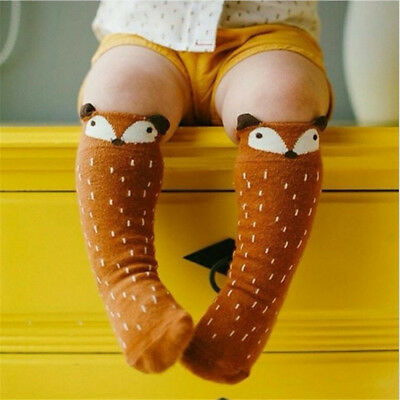 Baby Children Girls Toddler Fox Socks Soft Knee High Hosiery Tights Leg