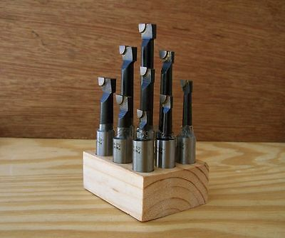 9Pce-12mm Brazed Carbide Tipped Boring Bar Set