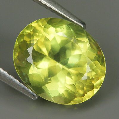 Fabulous 4.63 Ct Natural Unheated Yellow APATITE Oval Gem @ See Video !!