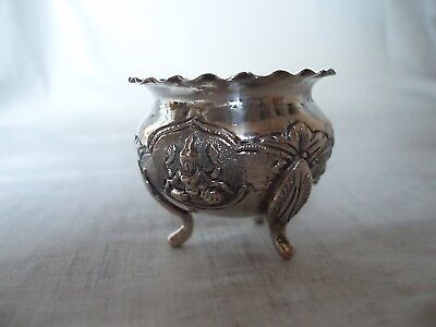 Indian White Metal Spice Bowl Circa 1910