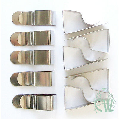 10 Drawing Board Clips (Can be used for table cloths) For holding paper & card.