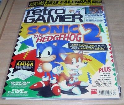Retro Gamer magazine #175 2017 Sonic the Hedgehog 2, Wolfenstein + Calendar