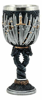 Medieval Twisted Dragons Iron Throne Legend Of The Swords Wine Goblet Chalice