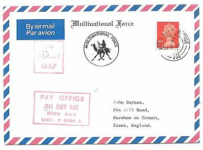 British Forces Gulf War Air Mail Cover FPO 990 Helicopter Det Middle East