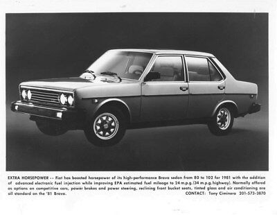 1981 Fiat Brava ORIGINAL Factory Photo oua0278