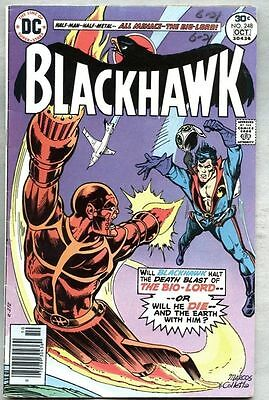 Blackhawk #248-1976 fn- James Sherman George Evans