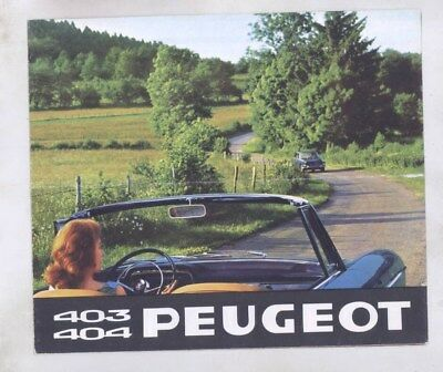 1965 Peugeot 403 404 Coupe Cabriolet Saloon Truck Brochure Poster wy8547