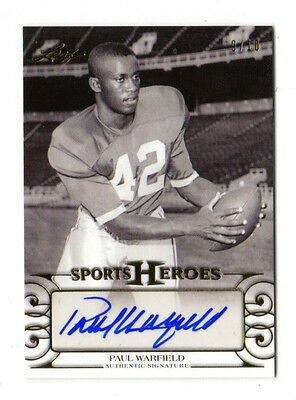 PAUL WARFIELD NFL 2016 LEAF SPORTS HEROES AUTOGRAPH #ed 9/10 (DOLPHINS,BROWNS