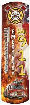 Heritage America by MORCO 375FIRE Firetruck Outdoor or Indoor Thermometer,
