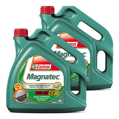 Castrol Magnatec 5W40 C3 Fully Synthetic Car Engine Oil 4L + 4L = 8 Litre