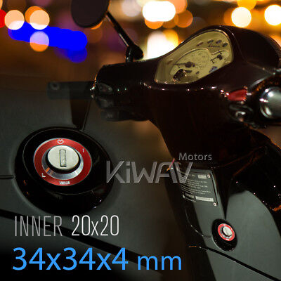 KiWAV alloy Ignition Switch Decoration red for Aprilia SR MOTARD
