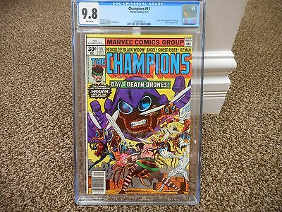 Champions 15 cgc 9.8 Marvel 1977 origin Swarm 1st print WHITE p MINT Black Widow