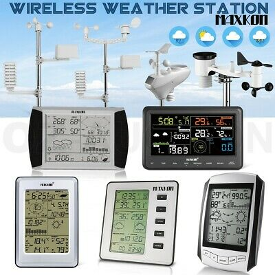 Multi Wireless Weather Forecast Station Outdoor Forecast LCD Display