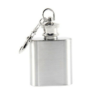 Portable 1oz Mini Stainless Steel Hip Flask Alcohol Flagon with Keychain BF