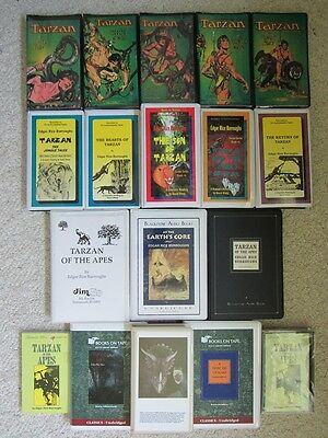 Lot 18 Edgar Rice Burroughs~Tarzan~John Carter Cassette Audiobooks/radio Shows