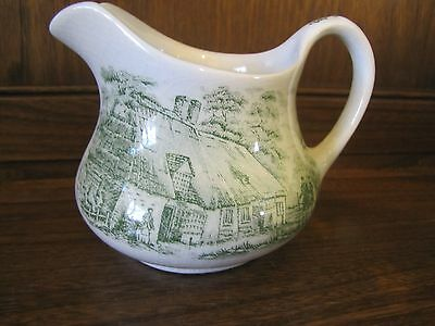 English Ironstone~Old Inns Series~ Green 1/2 pint Milk Jug