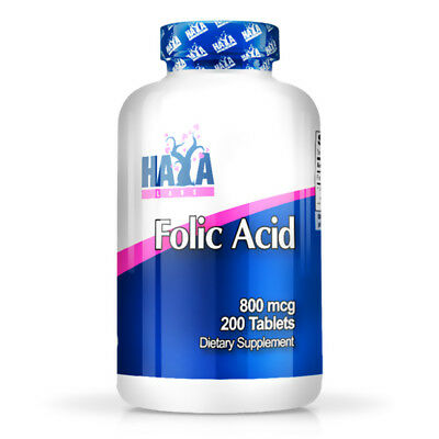 Haya Labs - Folic Acid 800mcg - 250 Tabs - acido folico