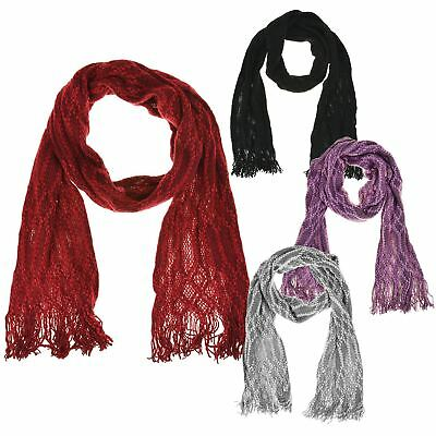 Womens Ladies Neck Warmer Scarf Super Soft Knitted Chunky Cable Knit Fashion