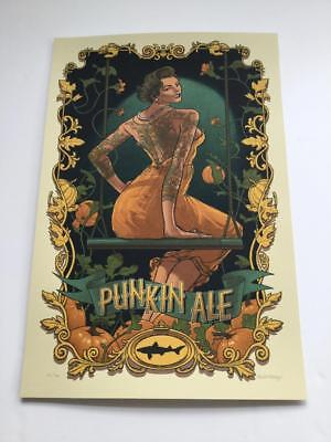 Dogfish Head Punkin' Ale Beer 2015 Signed Poster Art Print Rich Kelly #23/170