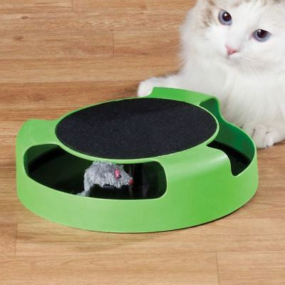 Catch The Mouse Moving Cat Kitten Interactive Play Toy Scratching Claw Mat Plush