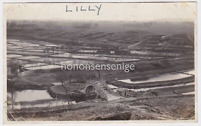 China Unlocated Paddy Fields And Moon Shaped Bridge Vintage Photograph E20C - 20