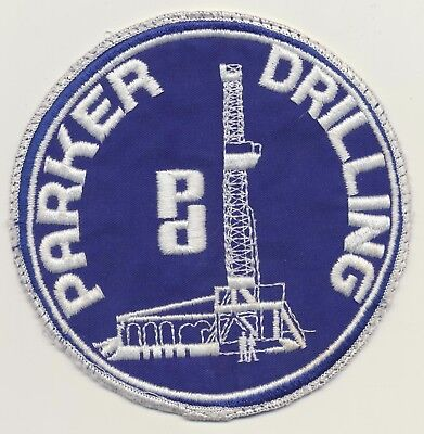 Parker Drilling PD Oil Field Houston TX Company Embroidered Jacket Patch 5 5/8""