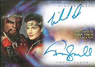 The Complete Star Trek Deep Space Dual Autograph Card Da1 Dax And Worf