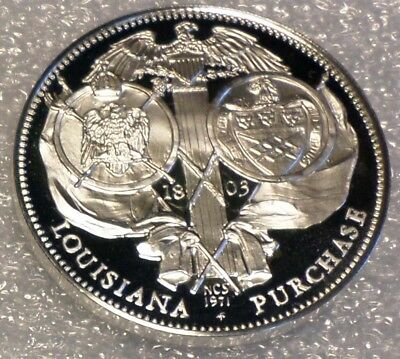 Louisiana Purchase Beautiful Proof Solid Sterling SILVER Vintage Coin Medal