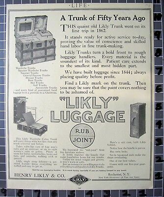 1912 Henry Likly Luggage Travel Chest Trunk Leather Steamer Trip   Fb077 Fb077