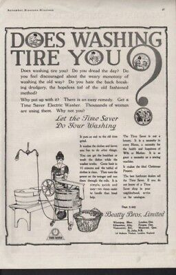 1919 Time Saver Electric Washer Home Appliance Clean Ad9546