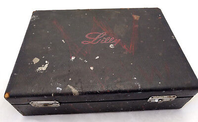 Antique Wooden Case Box Doctor Chart Medical Eli Lilly Indiana Advertising VTG