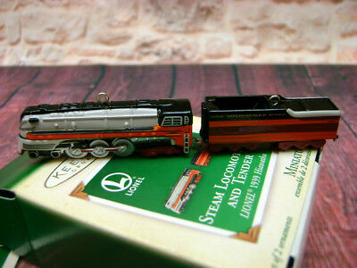Hallmark Miniature Ornament Steam Locomotive Tender Lionel Train 1939 Hiawatha