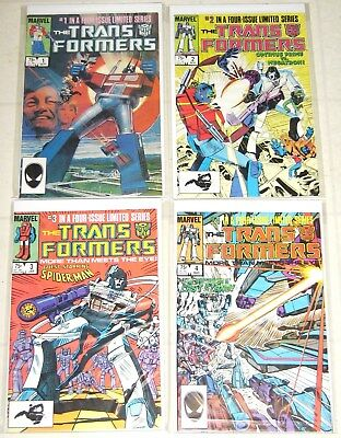 Marvel 1st Series Vintage 1984 Transformers Four Issues #1-4, Unread High Grades