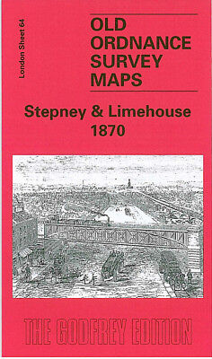 Old Ordnance Survey Map Stepney Limehouse 1870 Shadwell Bow Common Mile End Road