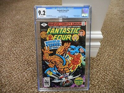 Fantastic Four 211 cgc 9.2 1st appearance of Terrax the Tamer Marvel 1979 WHITE