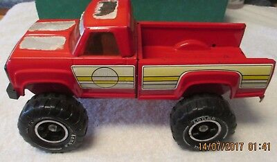 Vintage 1960's Red Tonka Monster Pick Up Truck Round Decals Pressed Steel USA