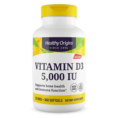 Healthy Origins Vitamin D-3 5000iu 360softgels - VITAMINE