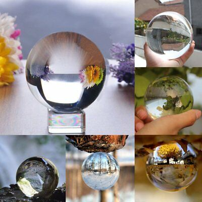 Crystal Paper Weigh Photography Lens Ball Photo Background Decor Gift 50-150mm