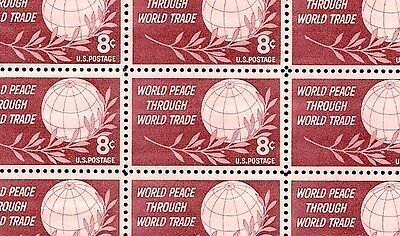 1959 - WORLD PEACE & TRADE - #1129 Mint -MNH- Sheet of 50 Postage Stamps