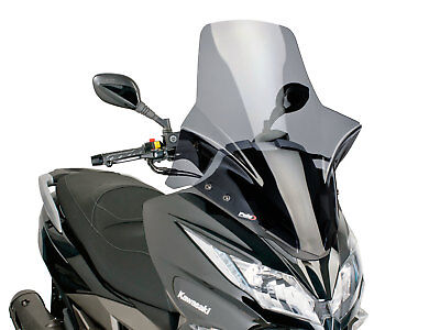 Windshield PUIG V-Tech Touring Dark Smoke For Kawasaki J 300i WINDSCREEN