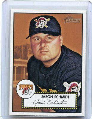 "2001 Topps Heritage #333 Jason Schmidt ""sp"", Pittsburgh Pirates, 120217"