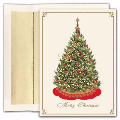 Elegant Tree 16 pack Boxed Holiday Christmas Cards