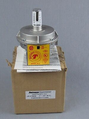 "New Antunes Controls Jd2-Red Spring Air Flow Switch 801111303 .1"" - 24"" W.c."