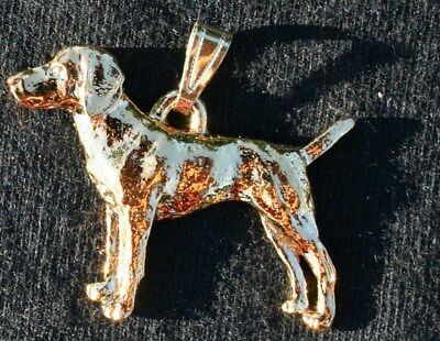 Vizsla 24K Gold Plated Pewter Pendant Jewelry USA Made