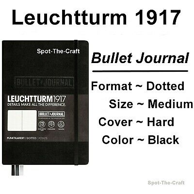 Leuchtturm1917 - Bullet Journal / Notebook - Dotted - Medium A5 - Black 346703