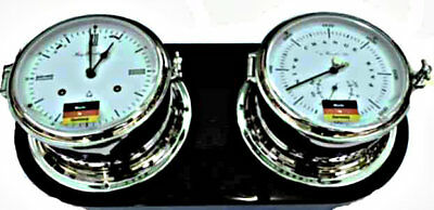 Ships Bell Clock and Barometer Set by Hermle