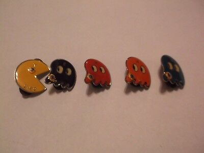 CR9) Rare Vintage Texas 2-E2 Set of Pac-man and Ghosts Lions Club Pin