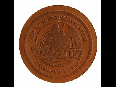 Boy Scout Official Licensed 2017 National Jamboree Leather Patch Emblem Jambo OA