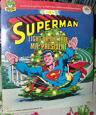 Vintage 1978 Superman Light Up The Tree Mr. President Sealed Vinyl 45 Rpm  7""