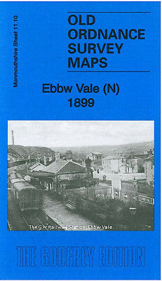 Old Ordnance Survey Map Ebbw Vale North 1899 Queens Square Newtown Pont-Y-Gof